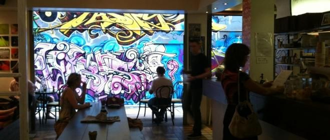 There aren't many great cafes in Cairns so Caffiend is miniature treasure. Don't be put off by the tiny space this cafe inhabits, in our experience we've found it very child-tolerant. If it's busy, someone will help stow your stroller & if it's not busy, you can grab a table in the graffiti/mural-walled alleyway that has some running-around space. Get here early because the truly excellent food, coffee & atmosphere mean it fills up quickly & this entire region of Australia closes around…