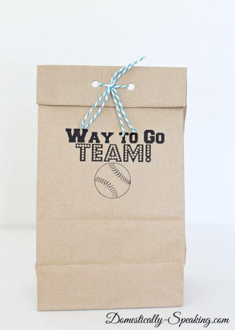 Brown Paper Bag Printable: Goodies Bags