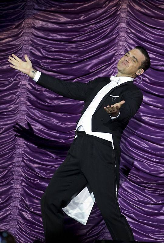Robbie Williams - Swings both Ways Tour September here in Perth Western Australia.  The Ultimate Entertainer