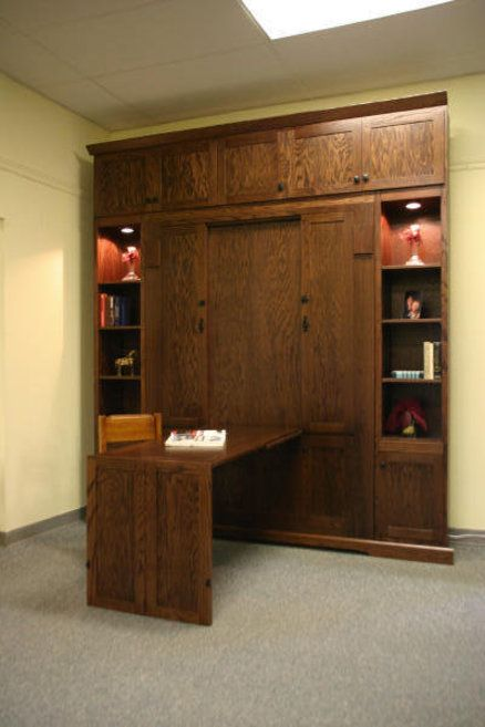 Craftsman Murphy Bed w/Hidden Desk (can you find it?)