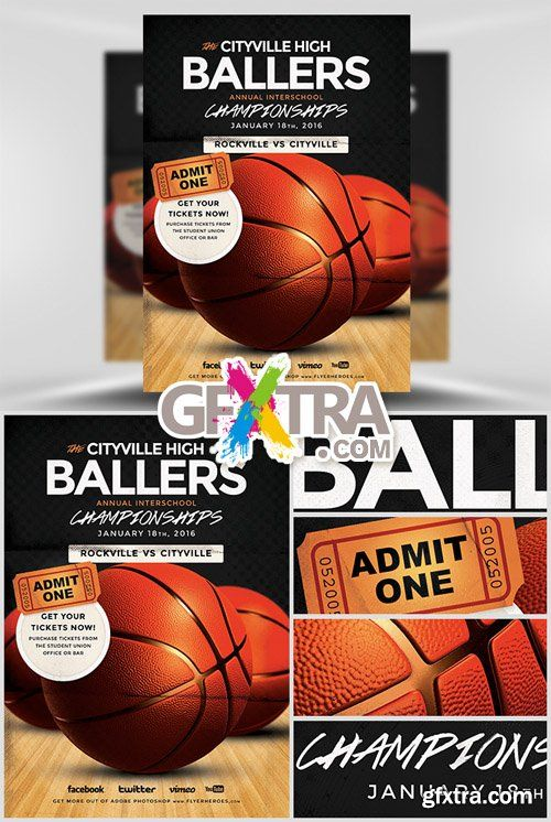 Delightful Basketball Flyer Template
