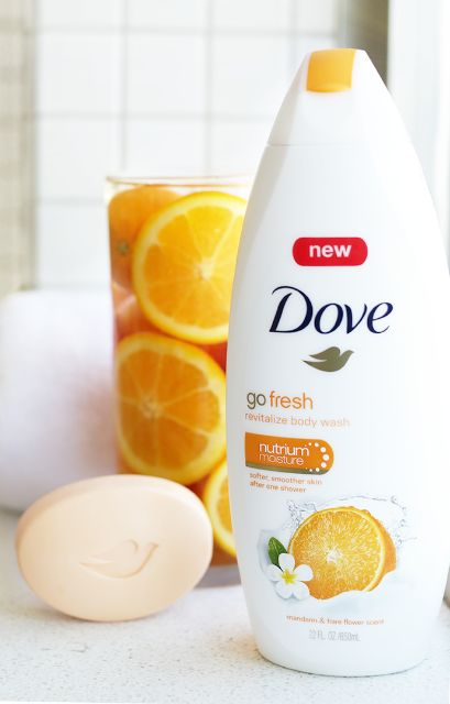 Bring the refreshing scent of mandarin and tiare flower into your bathroom with NEW Dove go fresh Revitalize Body Wash and Beauty Bar. A combination of nourishment for your skin and a vibrant scent to awaken your senses. Shower time just got better for you AND your skin. Pick up this product the next time you head to the store and bring your shower to life.