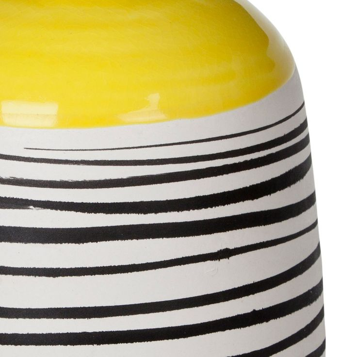 Yellow Graphic Vessel Extra Large | New Arrivals | Homeware - Me and My Trend