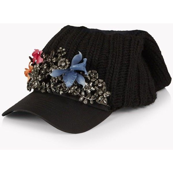 Dsquared2 Hat (2,015 CAD) ❤ liked on Polyvore featuring accessories, hats, black, sun visor, cotton hat, sun visor hat, dsquared2 and visor hats