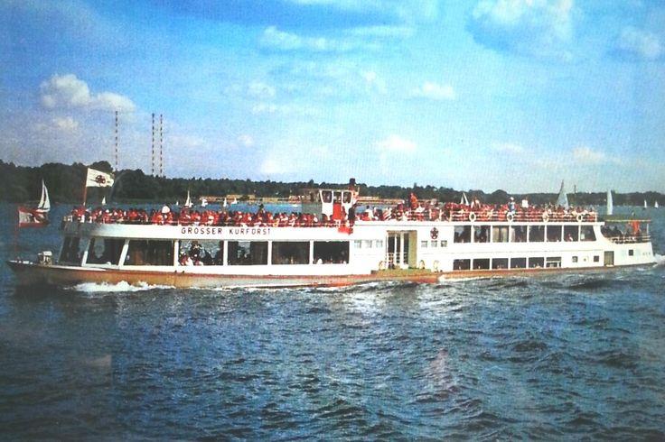 """Salonschiff """"Grosser Kurfürst"""" auf dem Tegeler See 1985"""