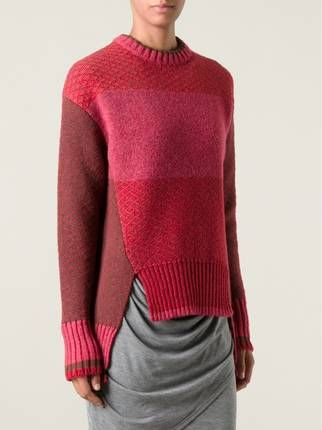 Prabal Gurung textured knit colour block sweater // idee voor colour block