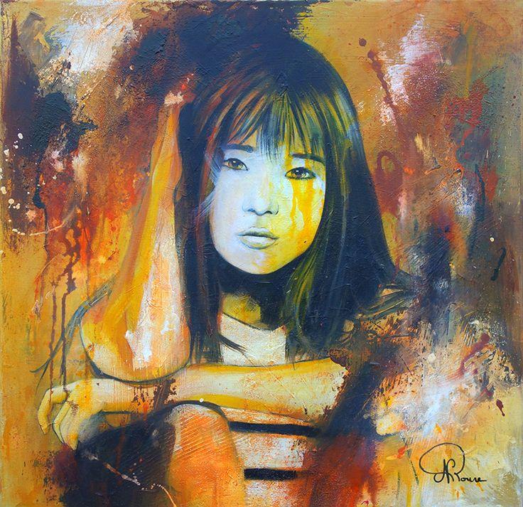 Nathalie Roure Perrier ; Mélancolie 60 x 60 cm