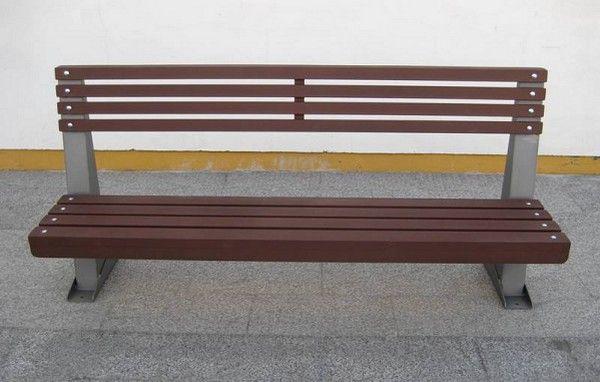 Mobiliario Urbano Banco Madera Hierro Antigamberros 096