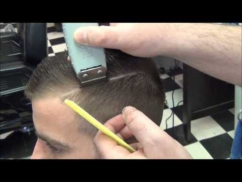 Pompadour Retro 30's 40's Style With Hard Part - YouTube