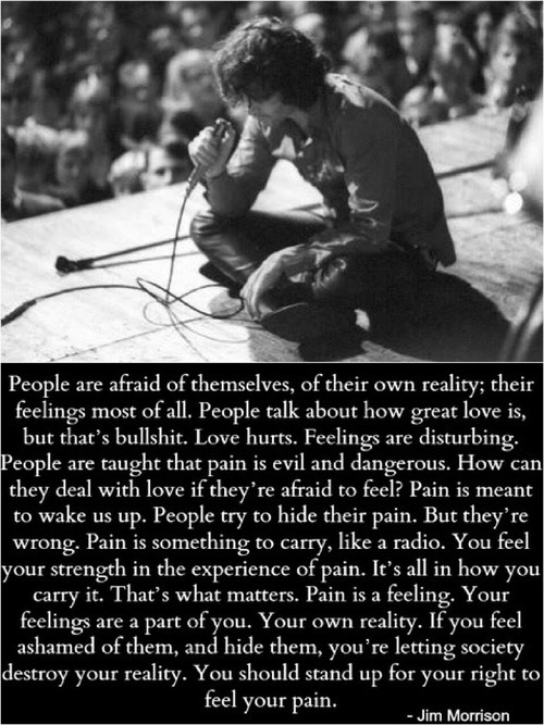 The pain you experience makes up just as much of you as the love that heals you.