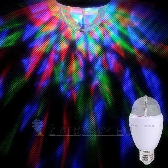 3W, 3x LED, 3x LED Blue/Green/Red, bar, dekorácia, dekoračná žiarovka, ďiaľkové ovládanie, DISKO, disko lampa, disko žiarovka, diskotéková žiarovka, dj disco lamp, dj disko lampa, dj lampa, do baru, e27, e27 pätica, efaktná žiarovka, firemná akcia, LED Blue/Green/Red, LED lampa, LED žiarovka, RGB, RGB kryštáľ, rgb led, rgb žiarovka, žiarovka, žiarovka do baru, žiarovka s efektom.