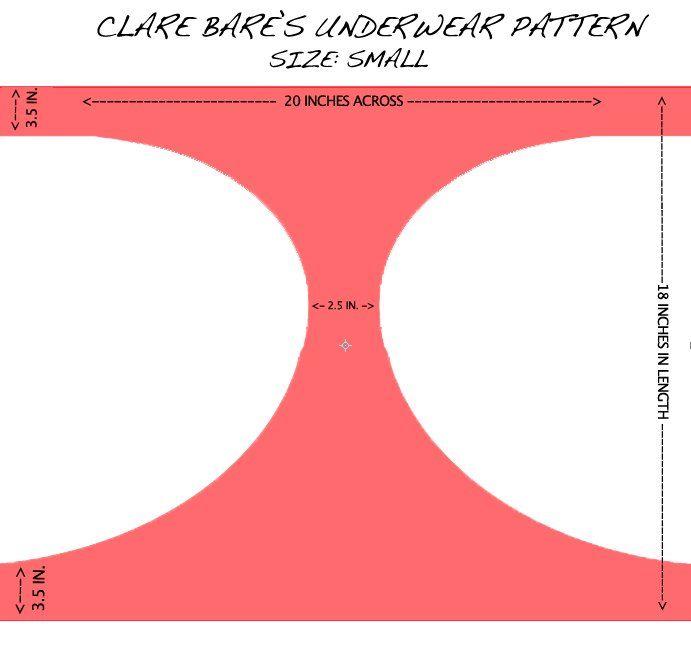clare bare's underwear pattern
