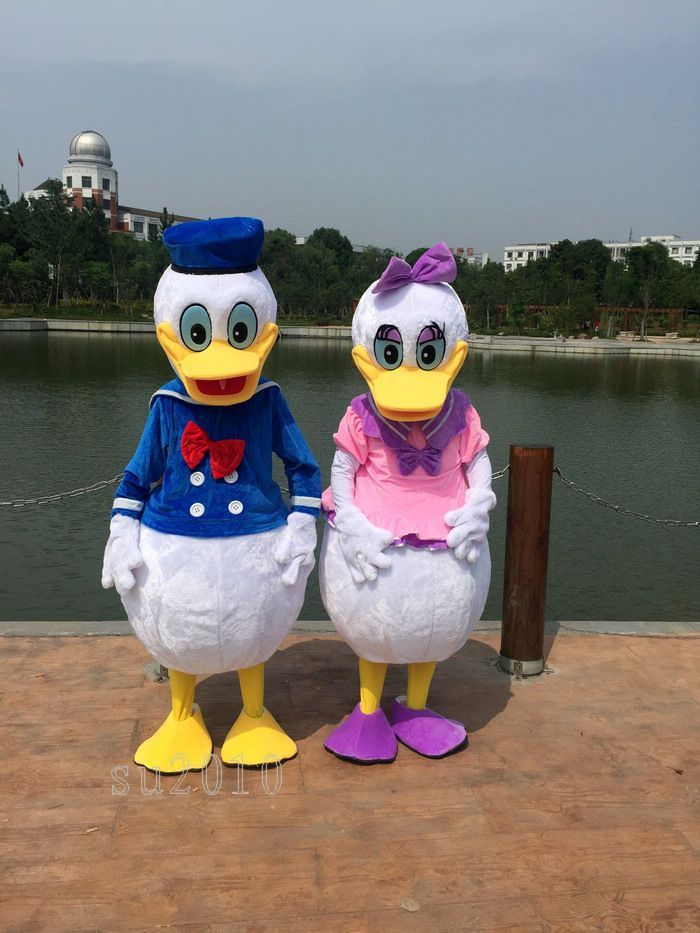 Donald Duck Adult Mascot Costume Fancy Dress Outfit UK