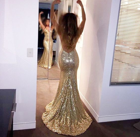 Sparkly High Quality Prom Dresses,Mermaid Prom Dresses,Gold Sequin Prom Dresses,Backless Prom Dresses,Sexy Prom Dresses