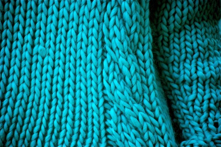 Un turquoise très vif - même pour l'hiver.