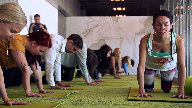 Airport yoga at Helsinki Airport