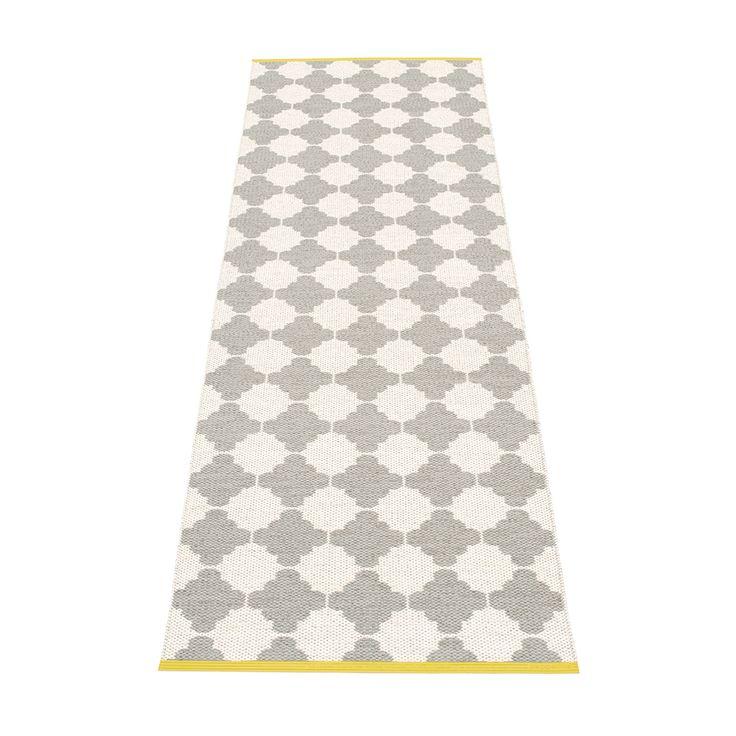 Marre Rug 70x225 cm, Warm Grey/Vanilla/Mustard, Pappelina