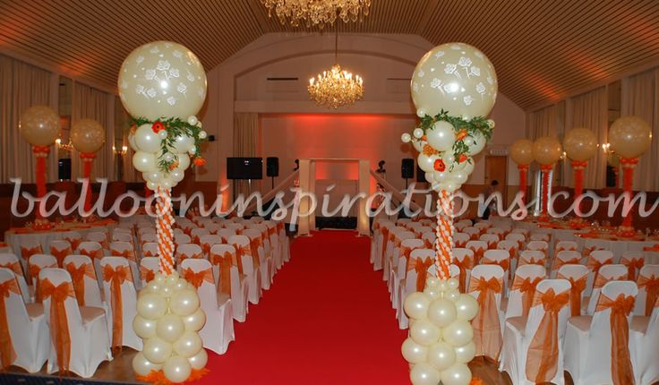 Elegant church wedding decoration ideas jewish wedding for Balloon decoration for weddings