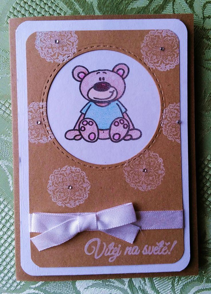 A ještě jedno pro Dobrotety :) #bear #child #welcombaby #cardmaking #papercard #handmade