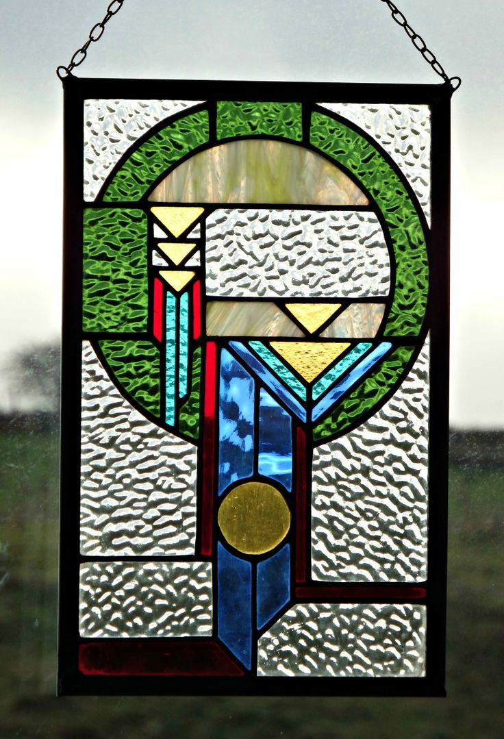 Dreamcatcher Panel - handmade stained glass