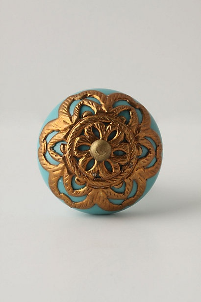 When we build a house someday I want every single knob (esp kitchen knobs) to be different (and as beautiful and as ornate as this one)!