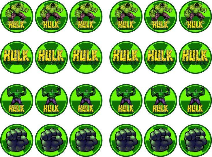 Incredible Hulk Edible Rice/Icing Paper Cupcake Birthday Cake Topper | eBay