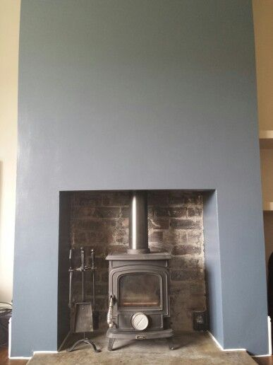 Stiffkey blue chimney breast
