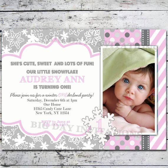 winter one derland birthday invitations