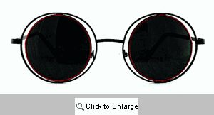 Arcane Round on Round Metal Sunglasses - 223 Black/Red