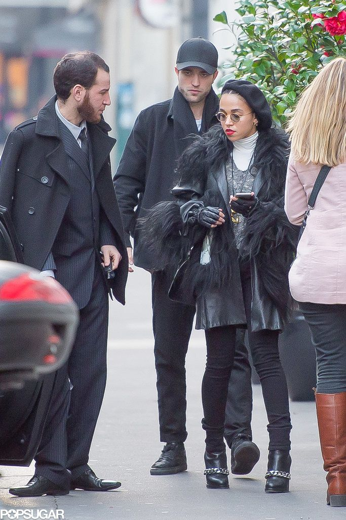 Robert Pattinson and FKA Twigs Arriving in Paris Pictures   POPSUGAR Celebrity