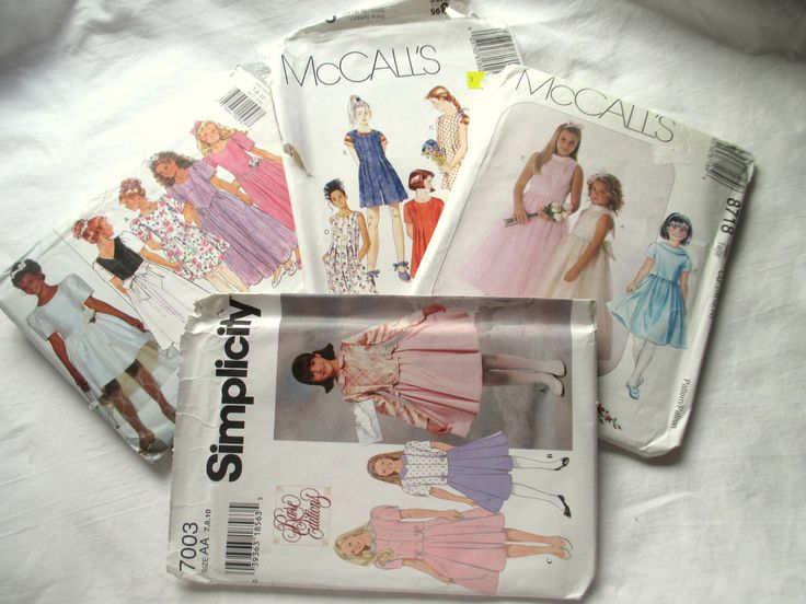 Vintage Patterns,Butterick 3872, McCalls 8718,Simplicity 7003,McCalls 8180,Party Dress Patterns,Bridemaid Dress Pattern,Church Dress Pattern by MyGrandmothersHouse on Etsy