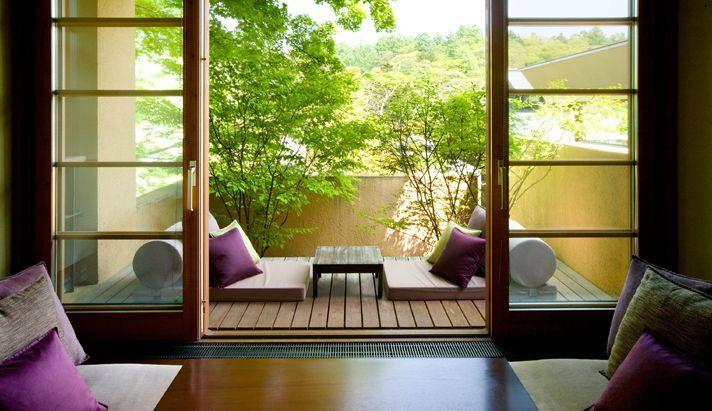 Japanese Style Balcony In 2019 Apartment Balcony Garden