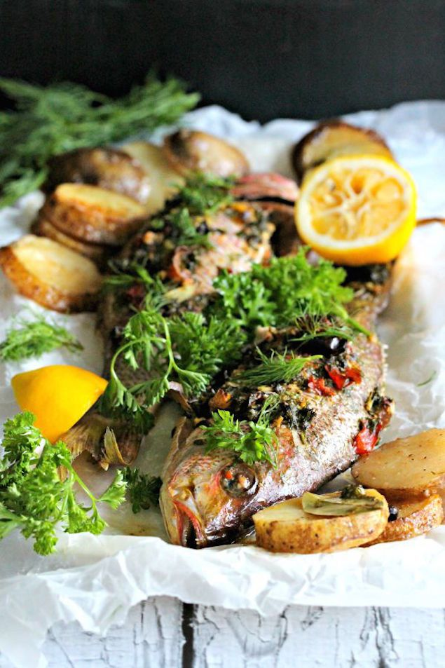 Whole Roasted Snapper and Potatoes
