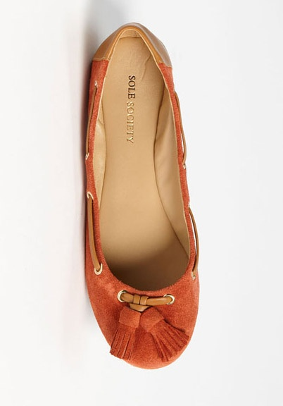 Rust Tassel Flats / i need another good pair o' flats :^(