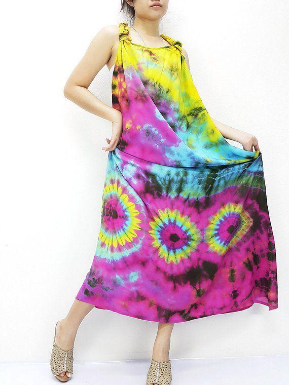 8202d09cf PTD2@5 Women Maxi Dress Gypsy Dress Rayon Dress Boho Dress Hobo Dress  Hippie Dress Summer Beach Dress Tie Dye Dress Comfy Dress Rainbow | Etsy |  Gypsy ...