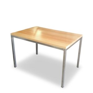 stainless steel table with timber top tempo.png