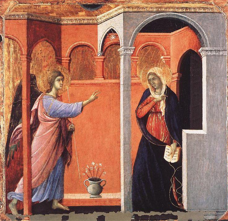 DUCCIO di Buoninsegna Annunciation 1308-11