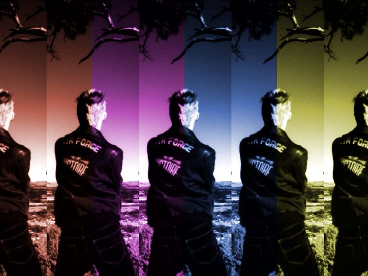 Ethan pointing out to Featherston while up on one tree hill