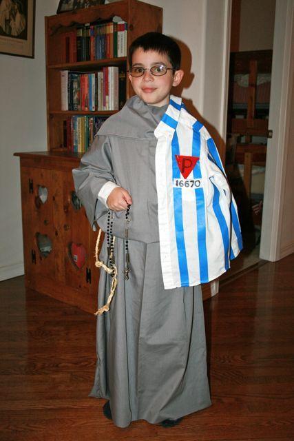 All Saints Day Costume for St. Maximilian Kolbe