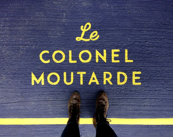 Behance :: Editing Le Colonel Moutarde  #montreal #handpainted #handmade #moutarde #branding #doncarlomtl #design #graphicdesign #painting #outdoor