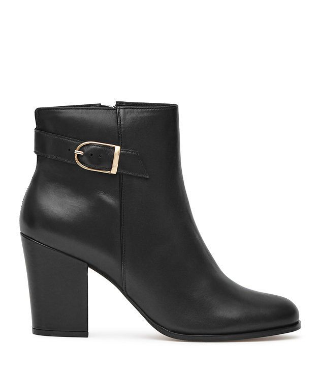 REISS - MASON BUCKLE-STRAP BOOTS