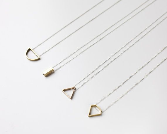 Brass bar necklace minimalist jewelry by Filoe on Etsy accessory, fashion, jewellery, minimalist