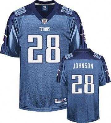 Reebok Tennessee Titans Chris Johnson 28 Blue Authentic Jersey Sale