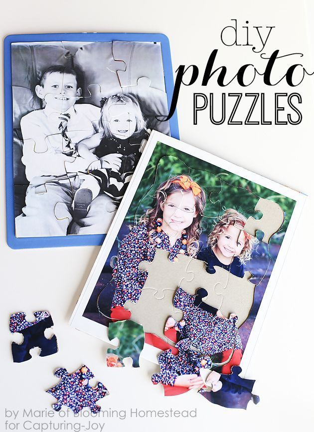 DIY Photo puzzles- fun and affordable way to preserve memories and these make gr...