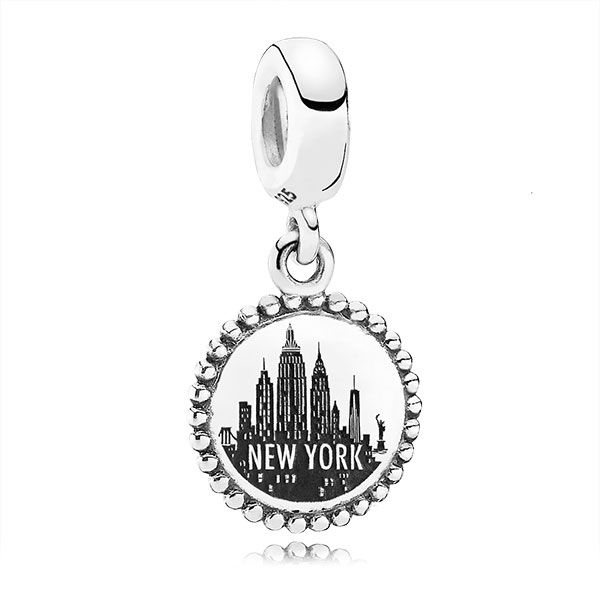 PANDORA New York Dangle Charm, in sterling silver. <br> <b> Style</b> USB791169-G051