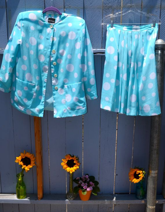 Two Piece Ladies Dress Suit by LetThemEatCakeLA on Etsy, $40.00