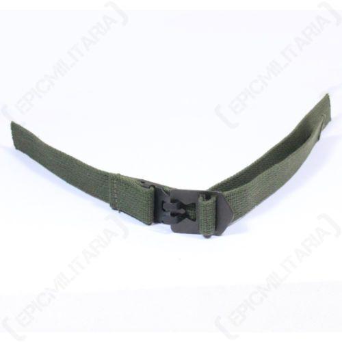 Original-M1-Helmet-Infantry-CHIN-STRAP-Green-Web-WW2-M-1-Canvas-Webbing-Unissued