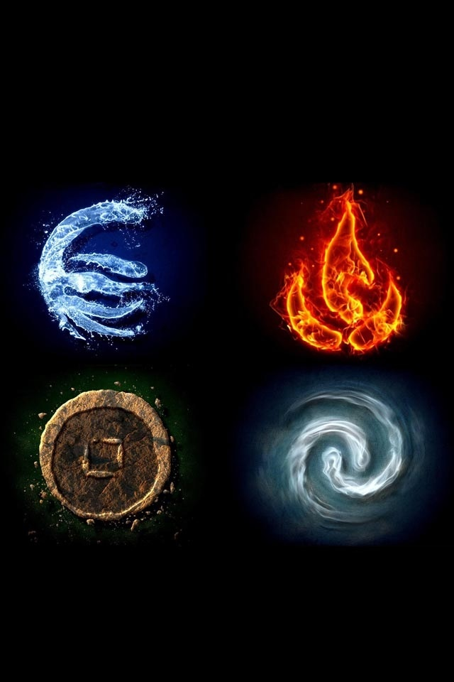 Earth, air, fire, water theses 4 items look like that they are almost illuminated and should