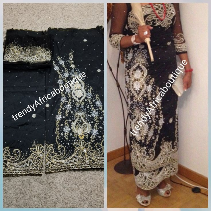 New Arrival  Igbo Bride Traditional wedding hand stoned Silk George wrapper. Big  madam celebrant 5yds wrapper   matching blouse as shown on model