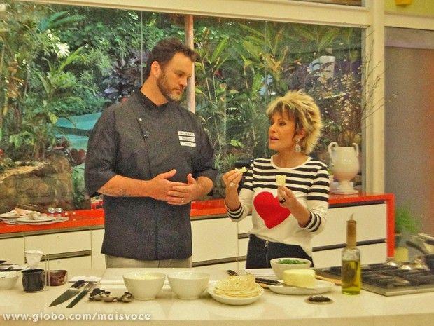 Jimmy ensina receita de Quesadilla Mineira para Ana Maria (Foto: Mais Você / TV Globo)